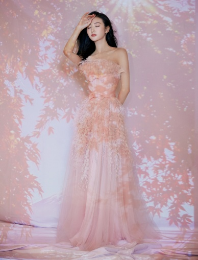 Jing Tian in Georges Chakra Spring 2019 Couture-1