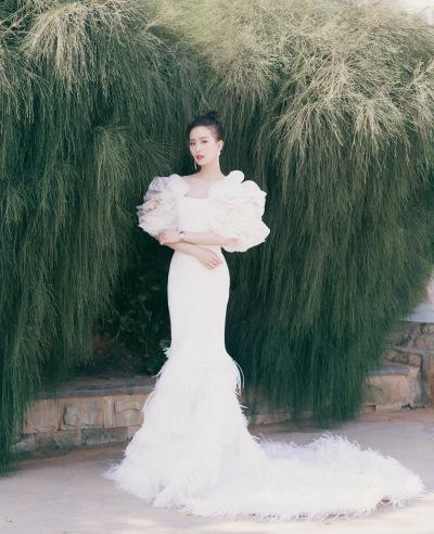 Liu Shishi in Georges Chakra Fall 2019 Couture-1