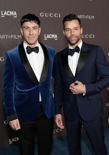 Ricky Martin and Jwan Yosef in Gucci