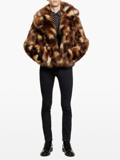 Saint Laurent fur coat