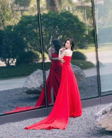 Yang Mi in Oscar de la Renta-4