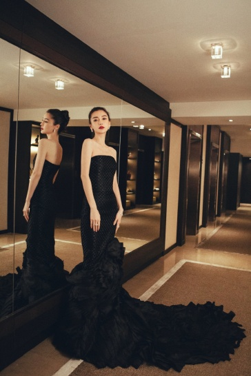 Angelababy in Georges Chakra Fall 2014 Couture-1