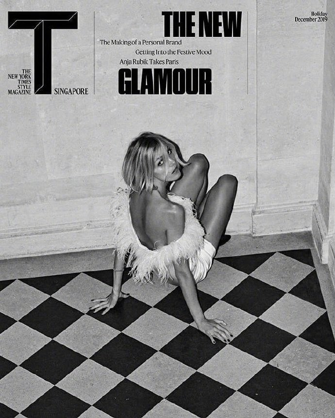 Anja Rubik for T magazine Singapore December 2019 Cover B