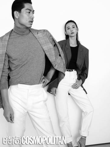 Chiling Lin and Akira for Cosmopolitan China January 2020-12