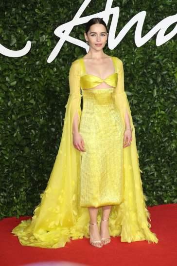 Emilia Clarke in Schiaparelli Fall 2019 Couture