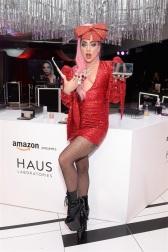Ladu Gaga in Christian Cowan Spring 2020-11