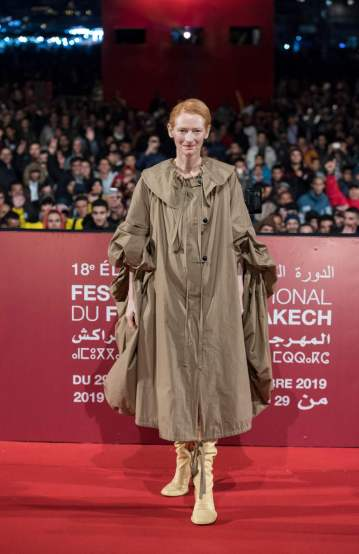 Tilda Swinton in Loewe Spring 2020