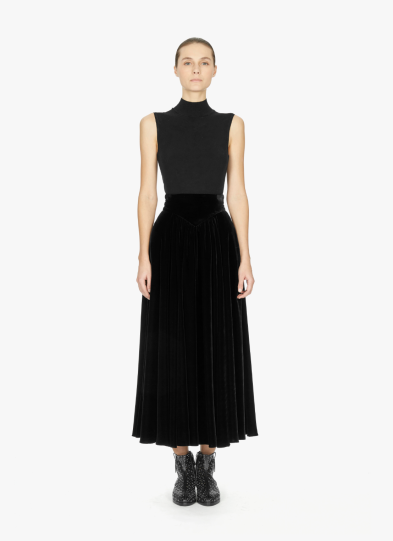 Alaïa velvet skirt