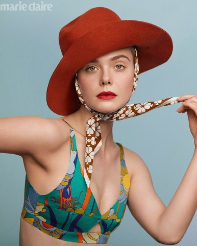 Elle Fanning for Marie Claire US February 2020-1