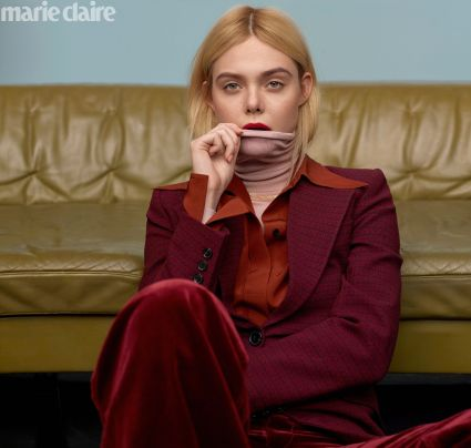 Elle Fanning for Marie Claire US February 2020-3