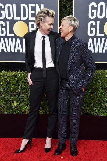Portia de Rossi and Ellen DeGeneres-1