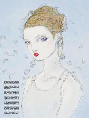 Yoshitaka Amano for Vogue Italia January 2020-7
