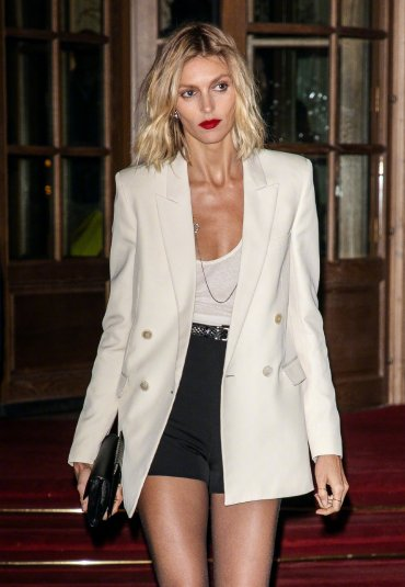 Anja Rubik in Saint Laurent Resort 2020 and Spring 2020-1