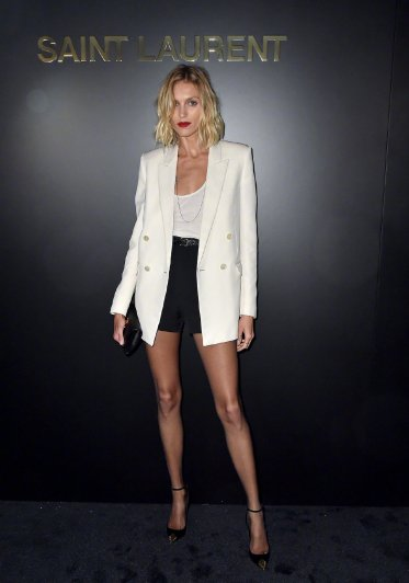 Anja Rubik in Saint Laurent Resort 2020 and Spring 2020