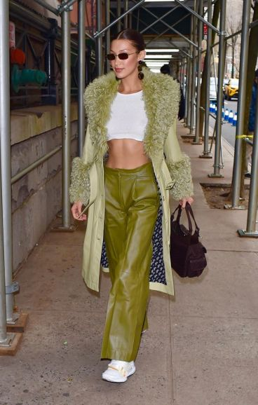 Bella Hadid in Saks Potts Fall 2019-2