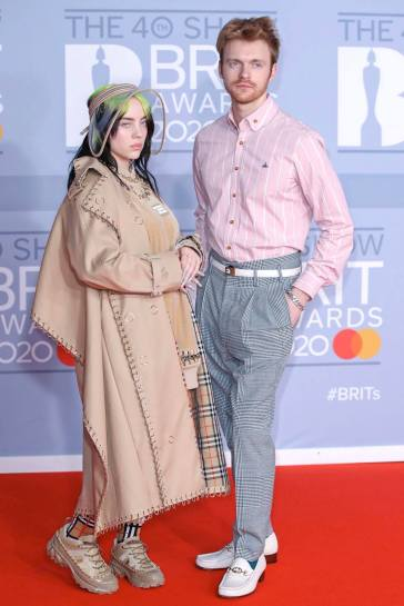 Billie Eilish in Burberry Fall 2019 and Finneas in Vivienne Westwood-1