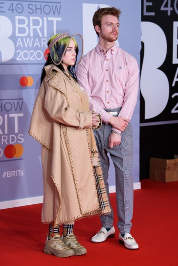 Billie Eilish in Burberry Fall 2019 and Finneas in Vivienne Westwood-2