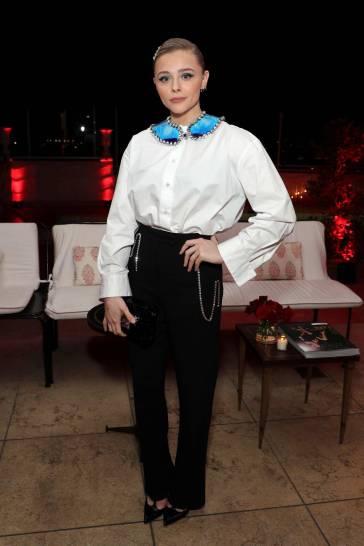 Chloe Moretz in Christopher Kane Fall 2019-4
