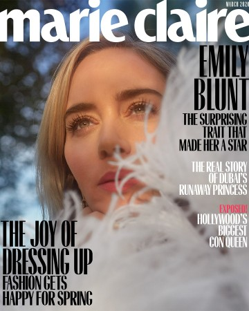 Emily Blunt for Marie Claire US March 2020 Cover B