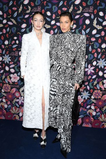 Gigi Hadid in Chanel Spring 2020 Couture and Bella Hadid in Balenciaga Spring 2020-3