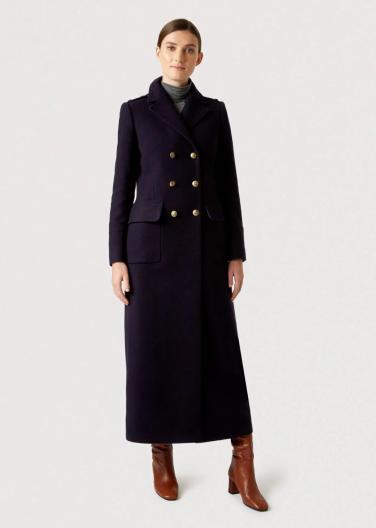 Hobbs London 'Bianca' navy maxi coat