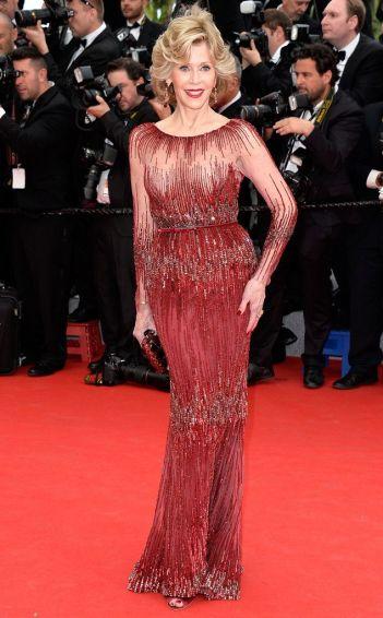 Jane Fonda in Elie Saab for 2014 Canne Film Festival