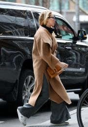 Jennifer Lawrence in Totême Coat-11
