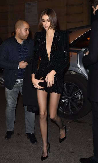 Kaia Gerber in Saint Laurent Resort 2020-4