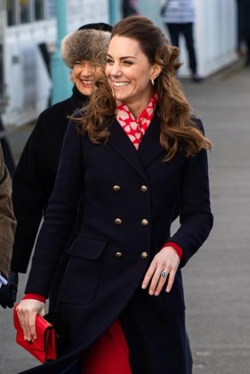 Kate Middleton in Hobbs London and Zara-13