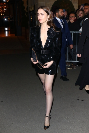 Lily Collins in Saint Laurent Spring 2020-4