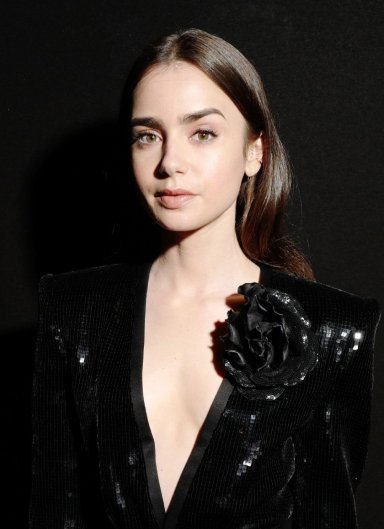 Lily Collins in Saint Laurent Spring 2020-6