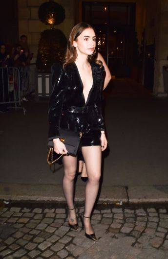 Lily Collins in Saint Laurent Spring 2020-7
