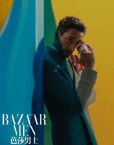 Adrien Brody for Bazaar Men China April 2020-2