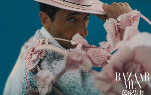 Adrien Brody for Bazaar Men China April 2020-5