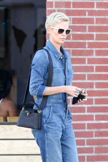 Charlize Theron in a Denim Jumpsuit-7