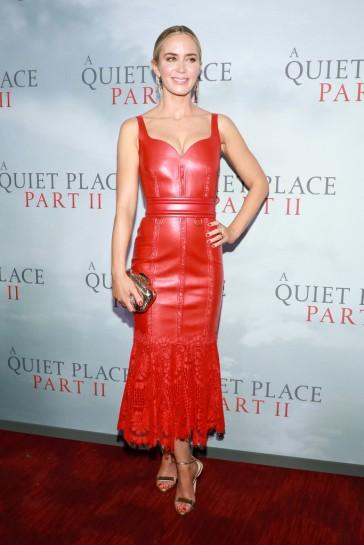 Emily Blunt in Alexander McQueen Resort 2020-2