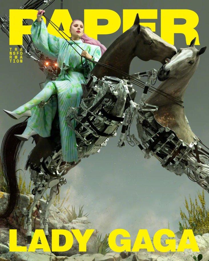 Lady Gaga Paper Magazine Transformation 2020 Cover B