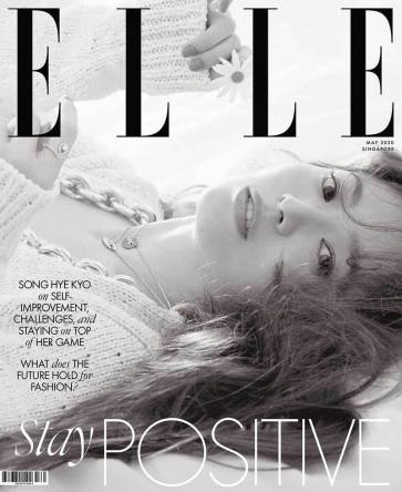 Song Hye-gyo for ELLE Singapore May 2020 Cover B