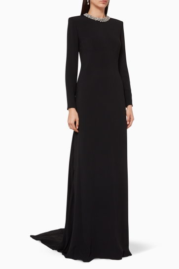 Stella McCartney Black Karley Embellished Evening gown
