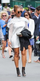 Celebrities Seen At Wimbledon Tennis Club In London